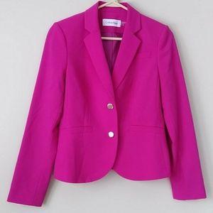 Calvin Klein Lined Fuchsia Pink Jacket Size 6P